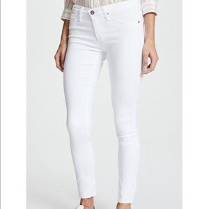 AG Legging Ankle Jeans in White Size 27